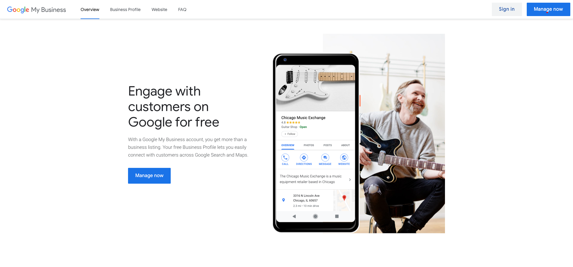 Engage with customers on Google for free