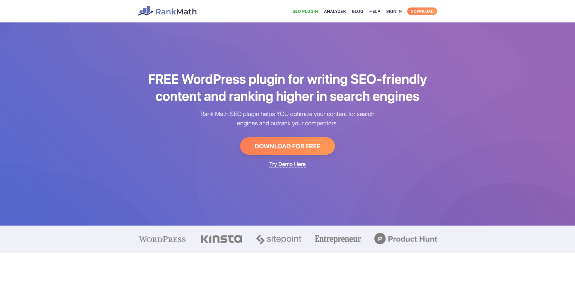 FREE WordPress plugin for writing SEO-friendly content and ranking higher in search engines