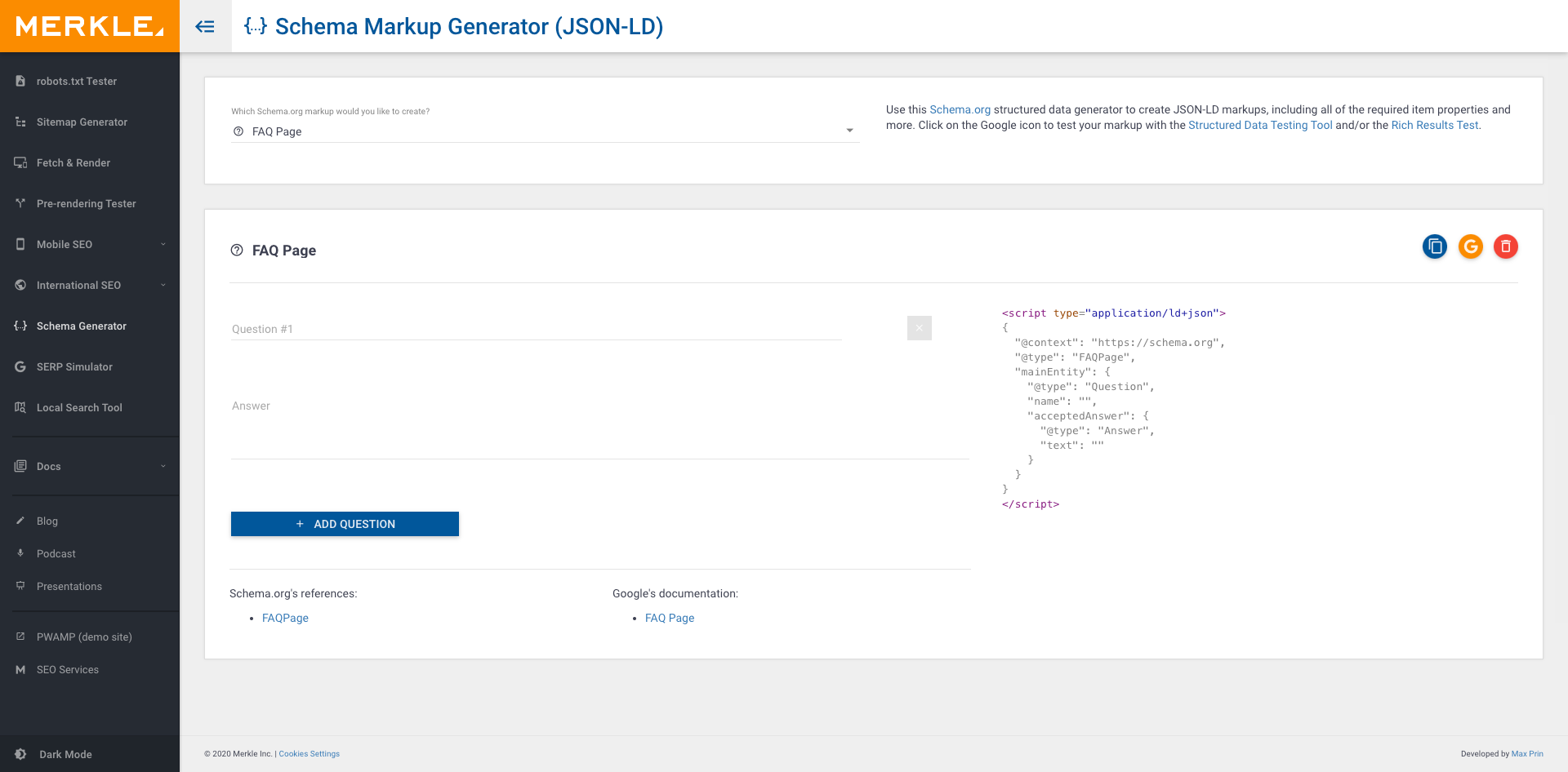 Use this Schema.org structured data generator to create JSON-LD markups